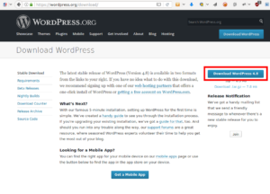 install wordpress download the tar file